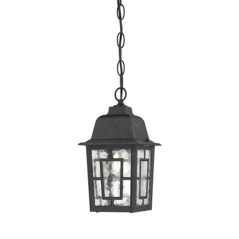 Nuvo Banyon 1-light Textured Black 11-inch Hanging Fixture