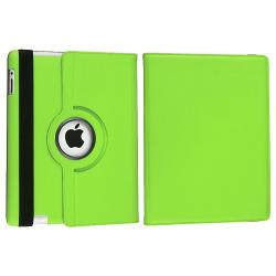 INSTEN Green 360 Swivel Leather Tablet Case Cover/ Crystal Tablet Case Cover for Apple iPad 2/ 3