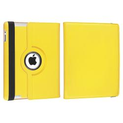 Yellow 360 Swivel Leather Case/ Crystal Case for Apple® iPad 2/ 3 - Thumbnail 2