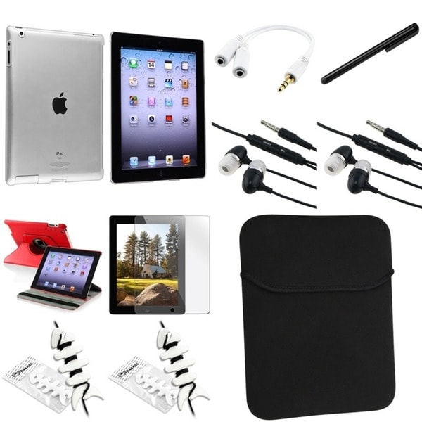 BasAcc Case/ Screen Protector/ Splitter/ Stylus/ Wrap for Apple® iPad 2/ 3/ 4