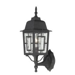 Nuvo Banyon 1-light Textured Black 17-inch Wall Sconce