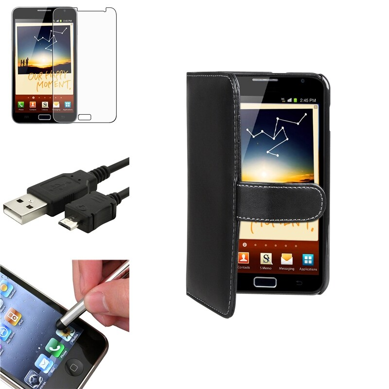 Case/Anti-Glare Screen Protector/Stylus/Cable for Samsung Galaxy Note N7000