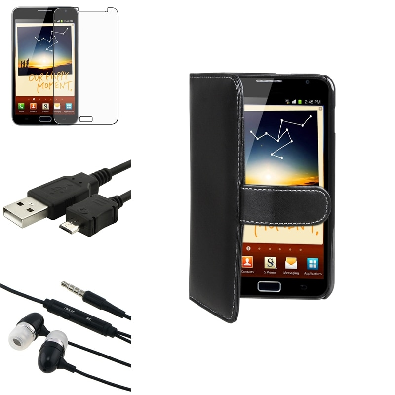 Case/Anti-Glare Screen Protector/Headset/Cable for Samsung© Galaxy Note N7000