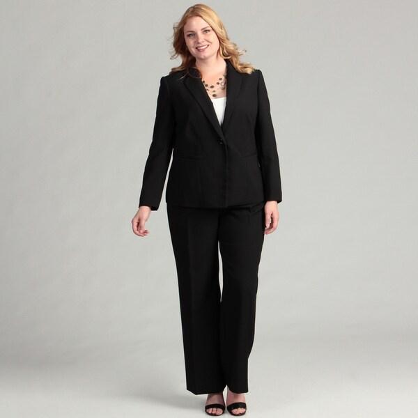 Tahari ASL Women's Plus Pinstripe Pant Suit FINAL SALE