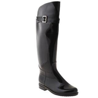 Henry Ferrera Women's Black Over-the-knee Rain Boots
