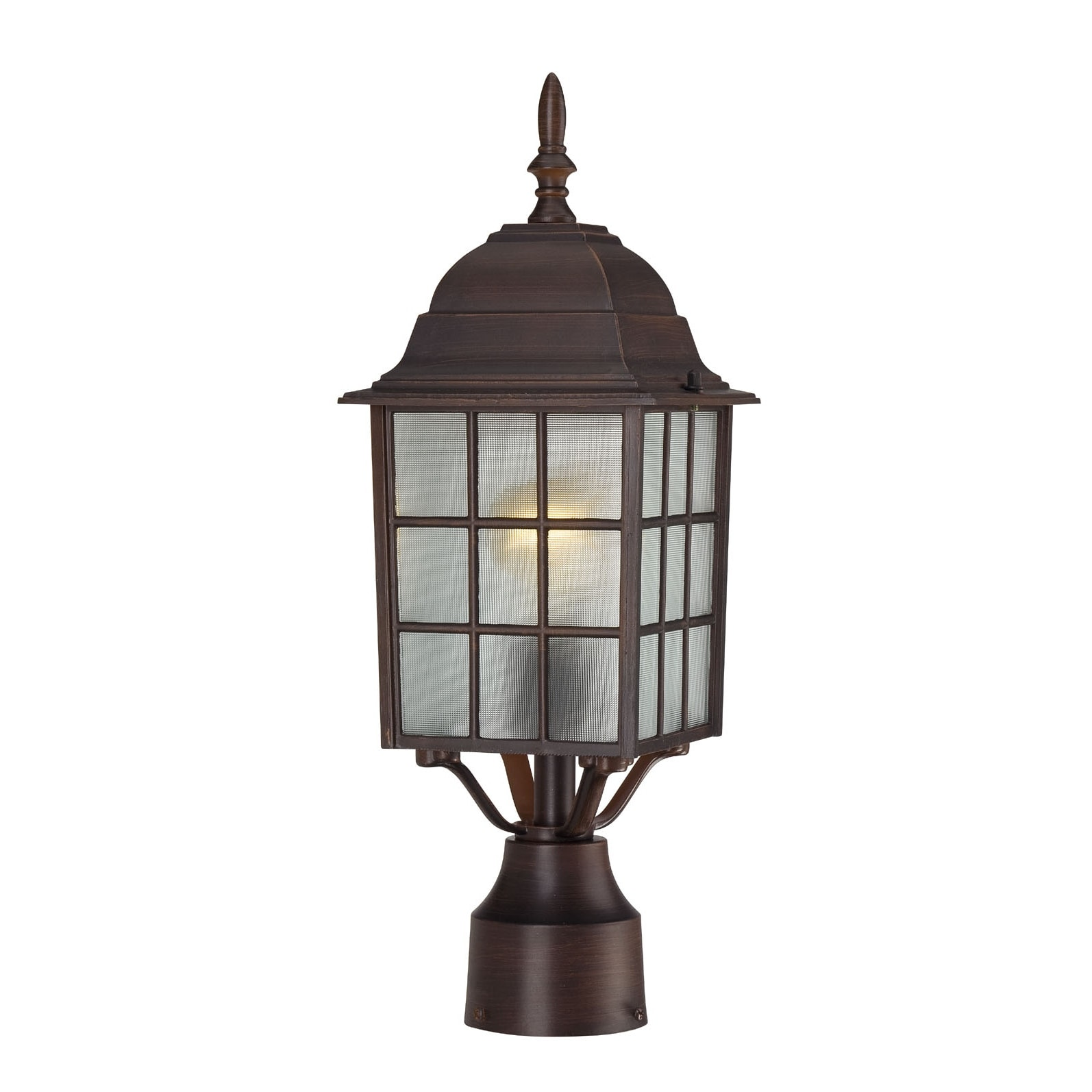 Shop Nuvo 39 Adams 39 1 Light Rustic Bronze 17 Inch Post Fixture Free Shipping On Orders Over 45