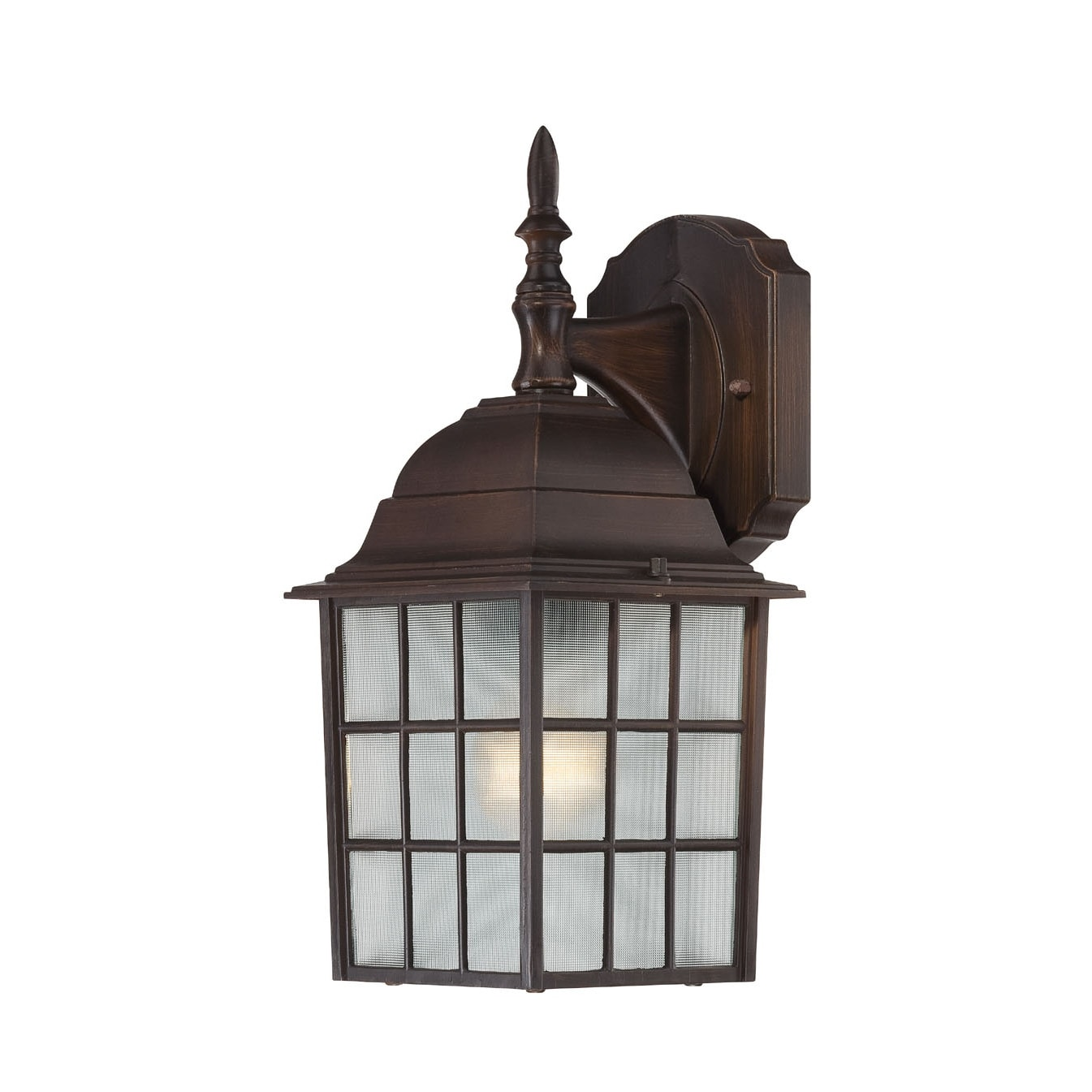 Wall Sconces Rustic: Nuvo 'Adams' 1-light Rustic Bronze 14-inch Wall Sconce