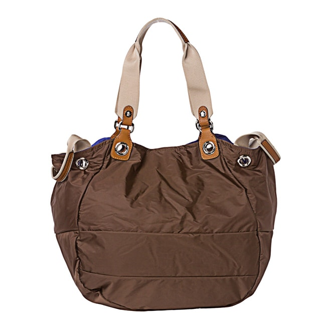 Moncler Chocolate Nylon Tote Bag