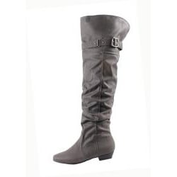 Blossom by Beston Women's 'Firenze-9' Gray Over-the-Knee Boots - Thumbnail 1