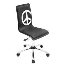 Peace Printed 360-degree Swivel Office Chair