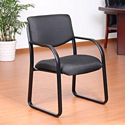 Aragon Black Fabric Guest Chair