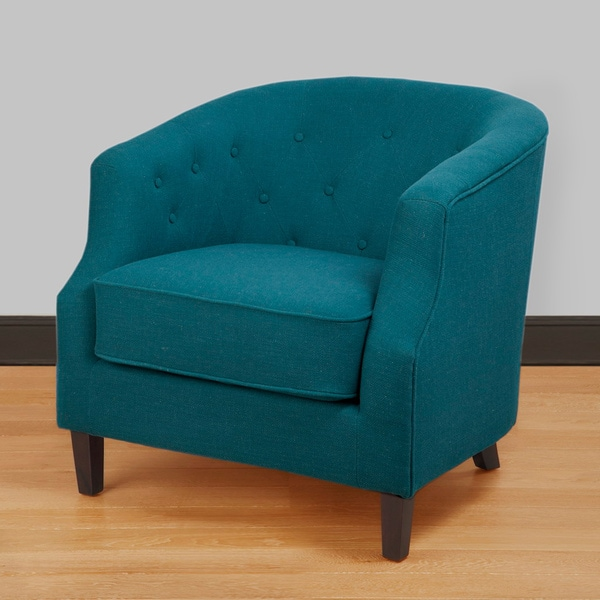 Ansley Peacock Blue Tub Chair & Shop Ansley Peacock Blue Tub Chair - Free Shipping Today - Overstock ...