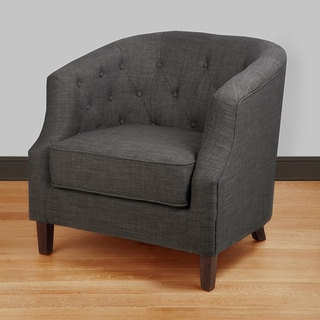 Shop Ansley Charcoal Grey Tub Chair Free Shipping Today
