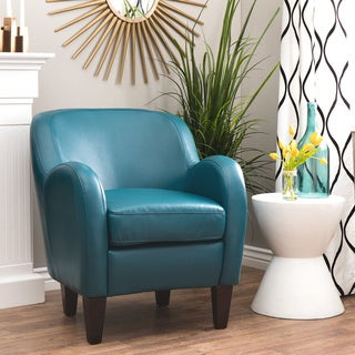 Clay Alder Home Bedford Turquoise Bonded Leather Tub Chair