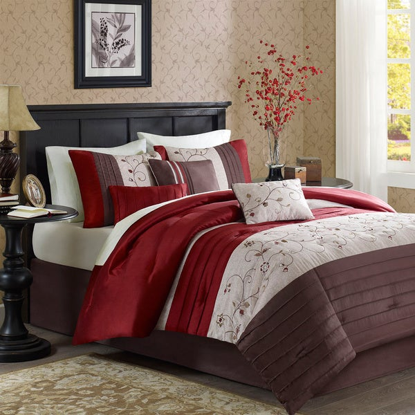 Madison Park Belle 7-piece Poly Polyoni Classic Woven Comforter Set