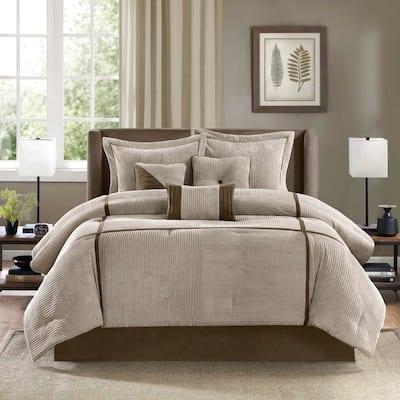 Madison Park Houston Taupe 7-Piece Comforter Set