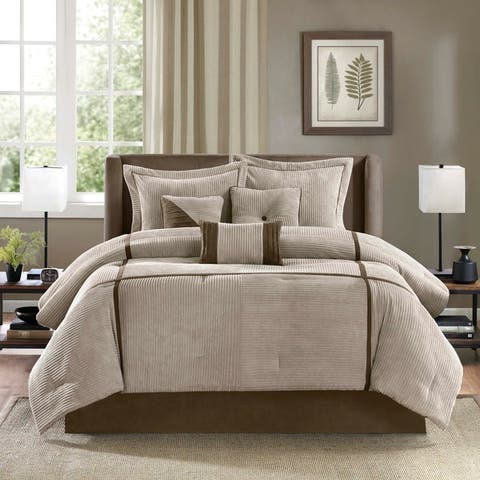 Madison Park Houston Taupe 7-Piece Comforter Set