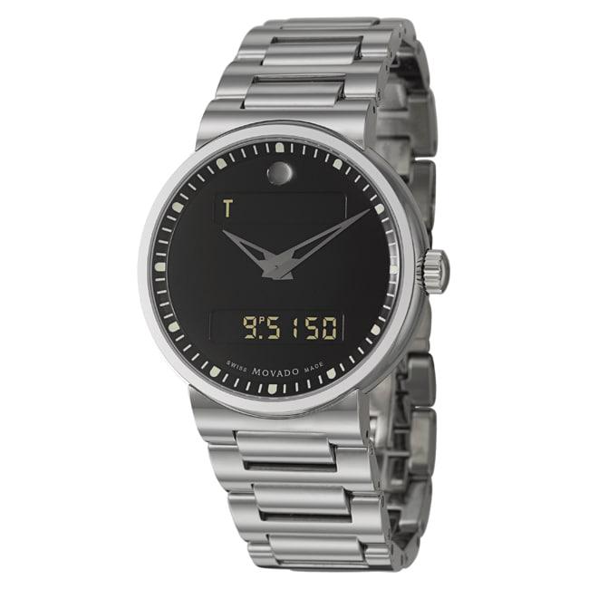 Movado Men's 'Dura' Tungsten Carbide Digital Analog Watch