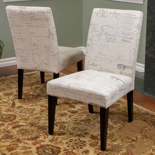 Beige Printed Dining Chairs (Set of 2) by Christopher Knight Home