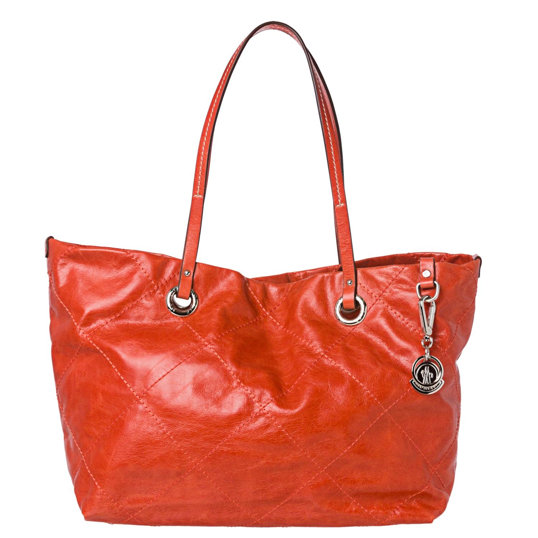 Moncler Adelaide Orange Stitched Tote Bag
