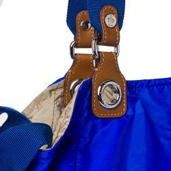 Moncler Electric Blue Nylon Tote Bag