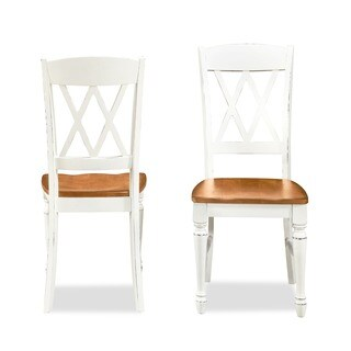 Monarch Double X-back Dining Chairs by Home Styles