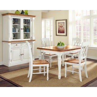 Home Styles Monarch Rectangular Dining Table with Four Double X-back Chairs