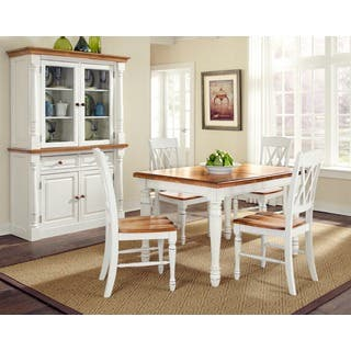 Monarch Rectangular Dining Table with Four Double X-back Chairs by Home Styles|https://ak1.ostkcdn.com/images/products/7110089/P14606639.jpg?impolicy=medium