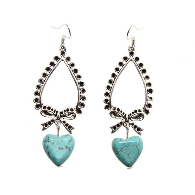 Heart Turquoise Earrings (China)