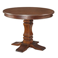 The Aspen Collection Pedestal Dining Table by Home Styles - Brown