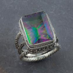 Handmade Sterling Silver Exotic Topaz 'Cawi' Ring (Indonesia) - Thumbnail 1