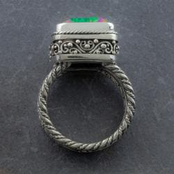 Handmade Sterling Silver Exotic Topaz 'Cawi' Ring (Indonesia) - Thumbnail 2