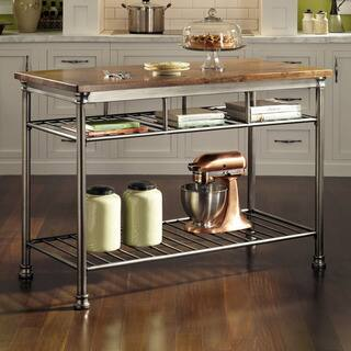 Copper Grove Restoule Kitchen Cart - Brown/Silver