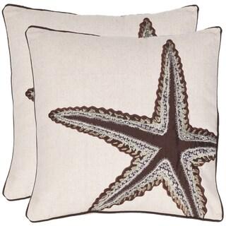 Safavieh Starfish 18-inch Beige/ Brown Decorative Pillows (Set of 2)|https://ak1.ostkcdn.com/images/products/7110204/P14606743.jpeg?_ostk_perf_=percv&impolicy=medium