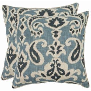 Safavieh Paisley 22-inch Blue Decorative Pillows (Set of 2)|https://ak1.ostkcdn.com/images/products/7110211/Paisley-22-inch-Blue-Decorative-Pillows-Set-of-2-P14606749.jpeg?impolicy=medium