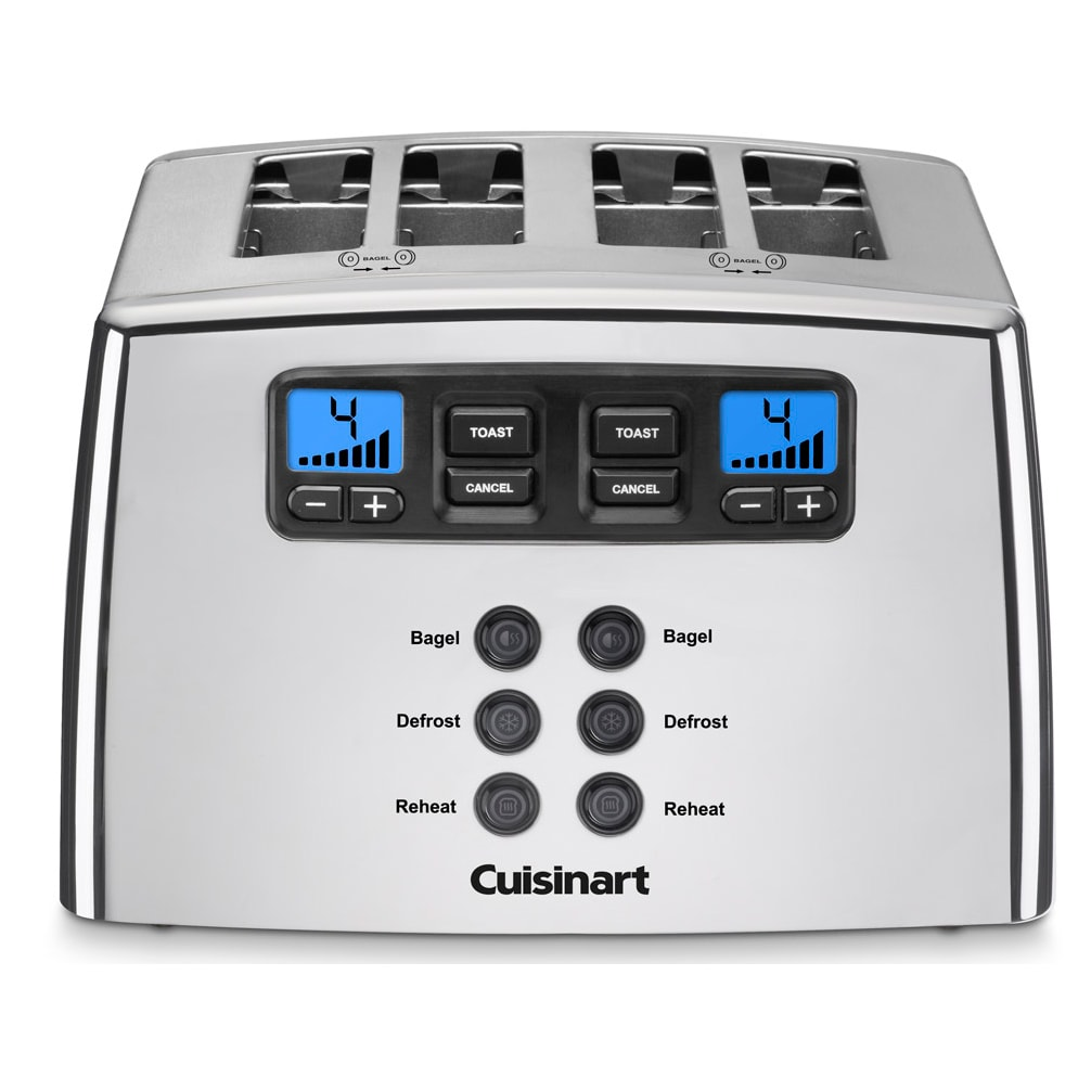 Cuisinart CPT-440 Silver 4-slice Leverless Toaster (CPT-4...