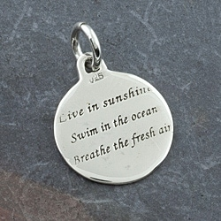 Hand-crafted Sterling Silver Nature Message Pendant (Thailand) - Thumbnail 1