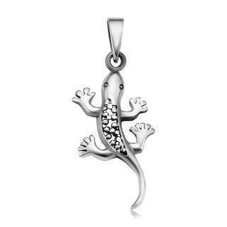 Handmade 925 Sterling Silver Unique Lizard Pendant (Thailand)