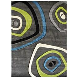 Studio 600 Geometric Design Charcoal Area Rug (5' x 7')