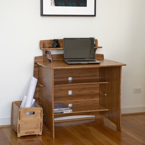 Legare 36 Inch Bamboo Amber Desk