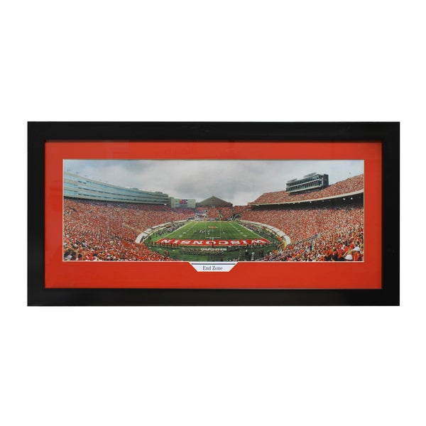 University of Wisconsin 'End Zone' Panoramic Frame