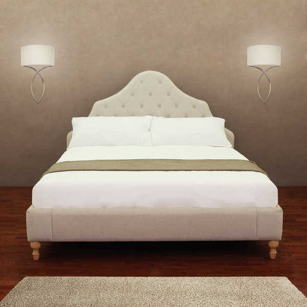 Shop Alice Button Tufted Queen Bed Frame Free Shipping