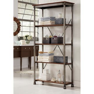 copper grove pickering 5 tier multi function vintage shelves - Overstock Bookshelves