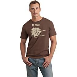 Men's Brown 'Pie Chart' T-shirt
