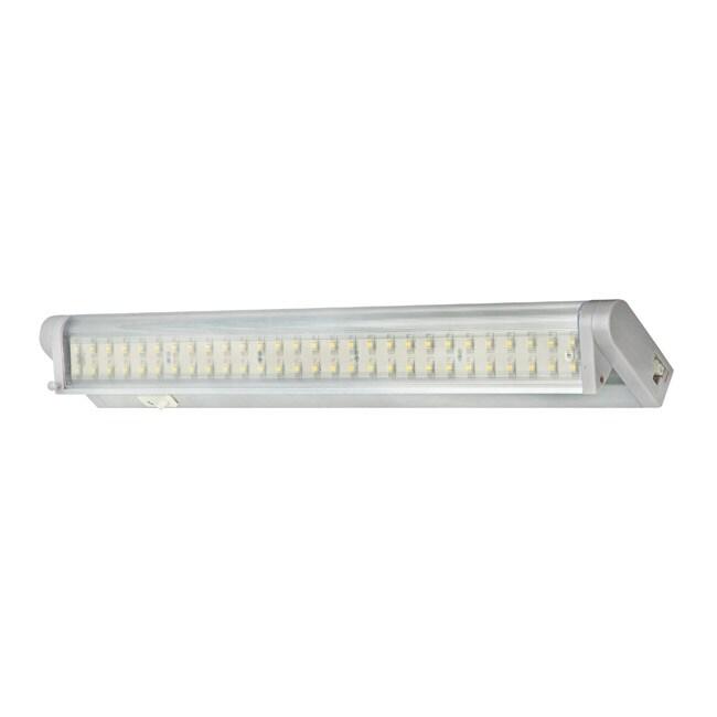 Kitchen Under Cabinet Counter Led Lighting Free Shipping: Satin Aluminum LED Undercabinet Swivel Light