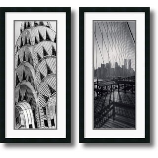 Torsten Andreas Hoffman 'New York Panels' Framed Art Print Set 18 x 34-inch (Each)