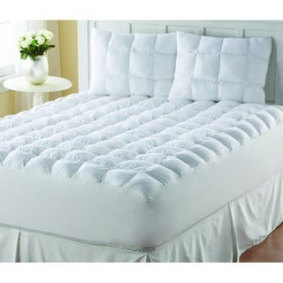 Supreme Loft Cloud Down-alternative White Cotton Mattress Pad