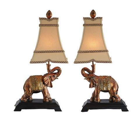 Elephant Lamps (Set of 2)