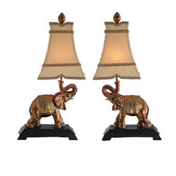 Elephant Lamps (Set of 2)