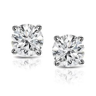 Auriya Platinum 2/5ct TDW Clarity-Enhanced Diamond Solitaire Stud Earrings